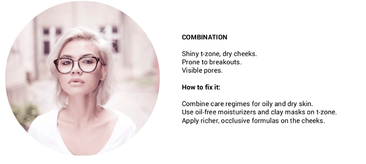 how to determine your skin type: combination skin