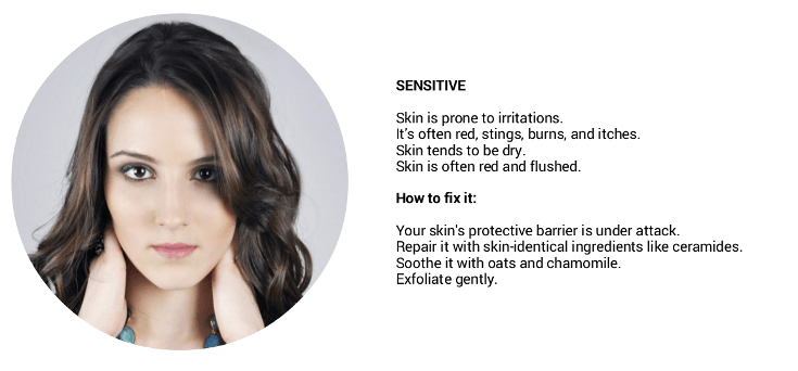 how to determine your skin type: sensitive skin