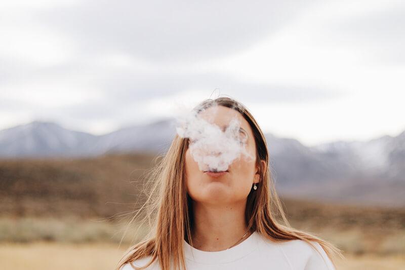 woman smoking skin