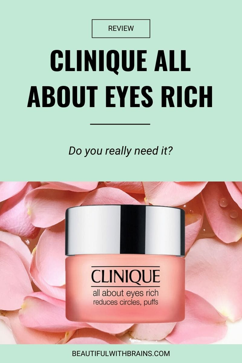 review clinique all about eyes rich