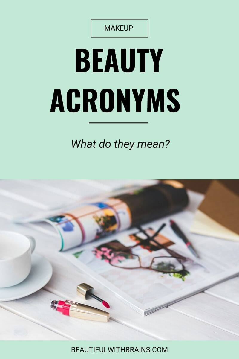 beauty acronyms and abbreviations