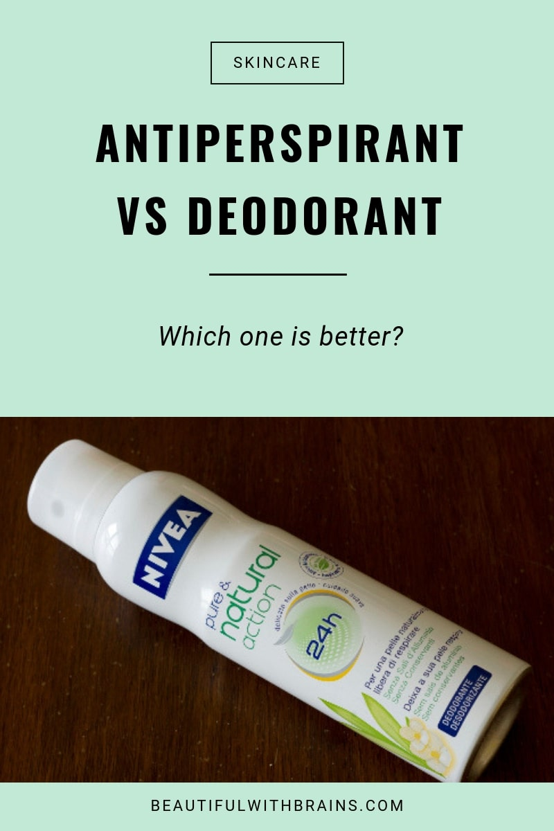 antiperspirants vs deodorants