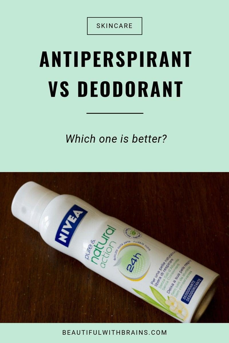 antiperspirants vs deodorants