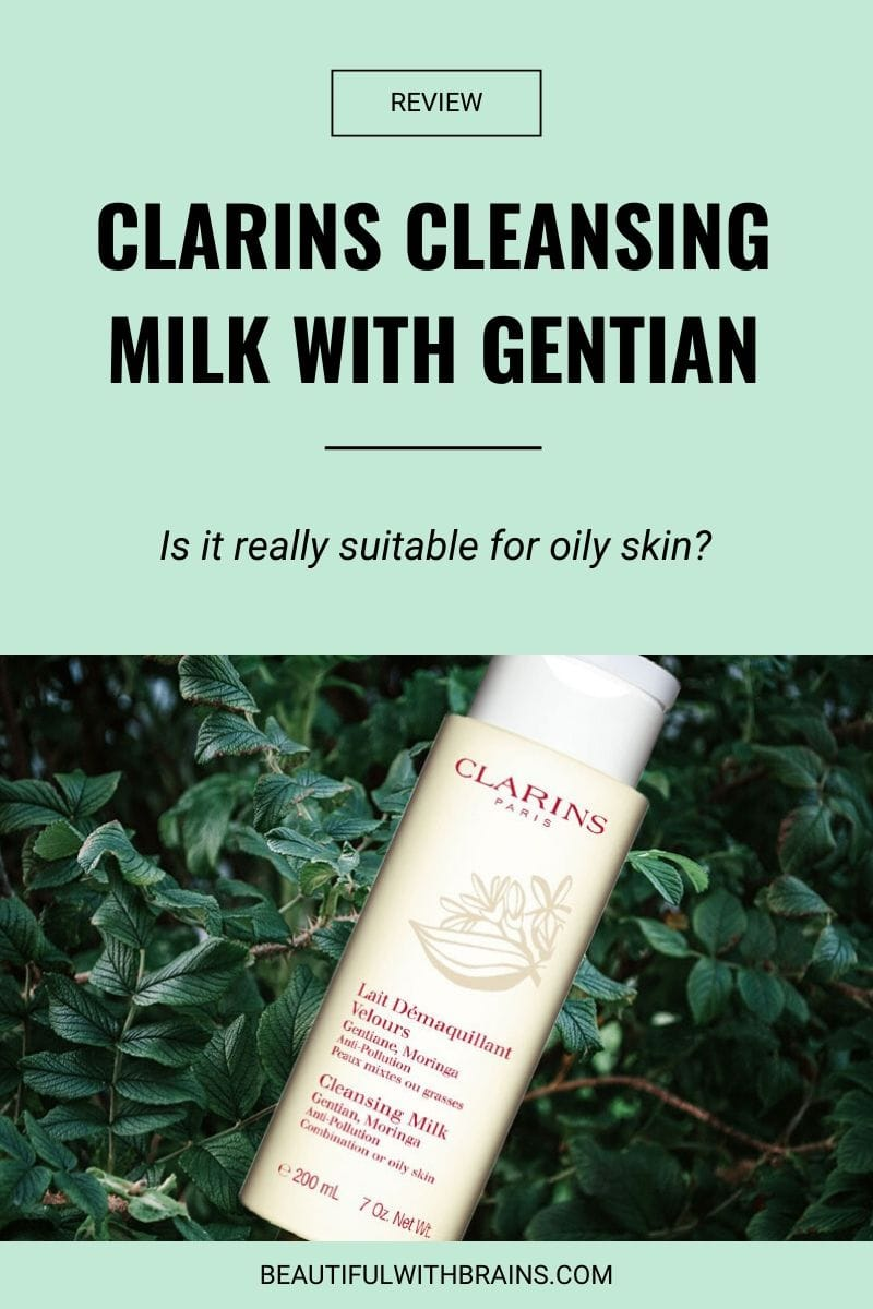 review clarins cleansing milk with gentian