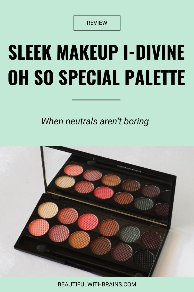 review sleek makeup i-divine oh so special eyeshadow palette