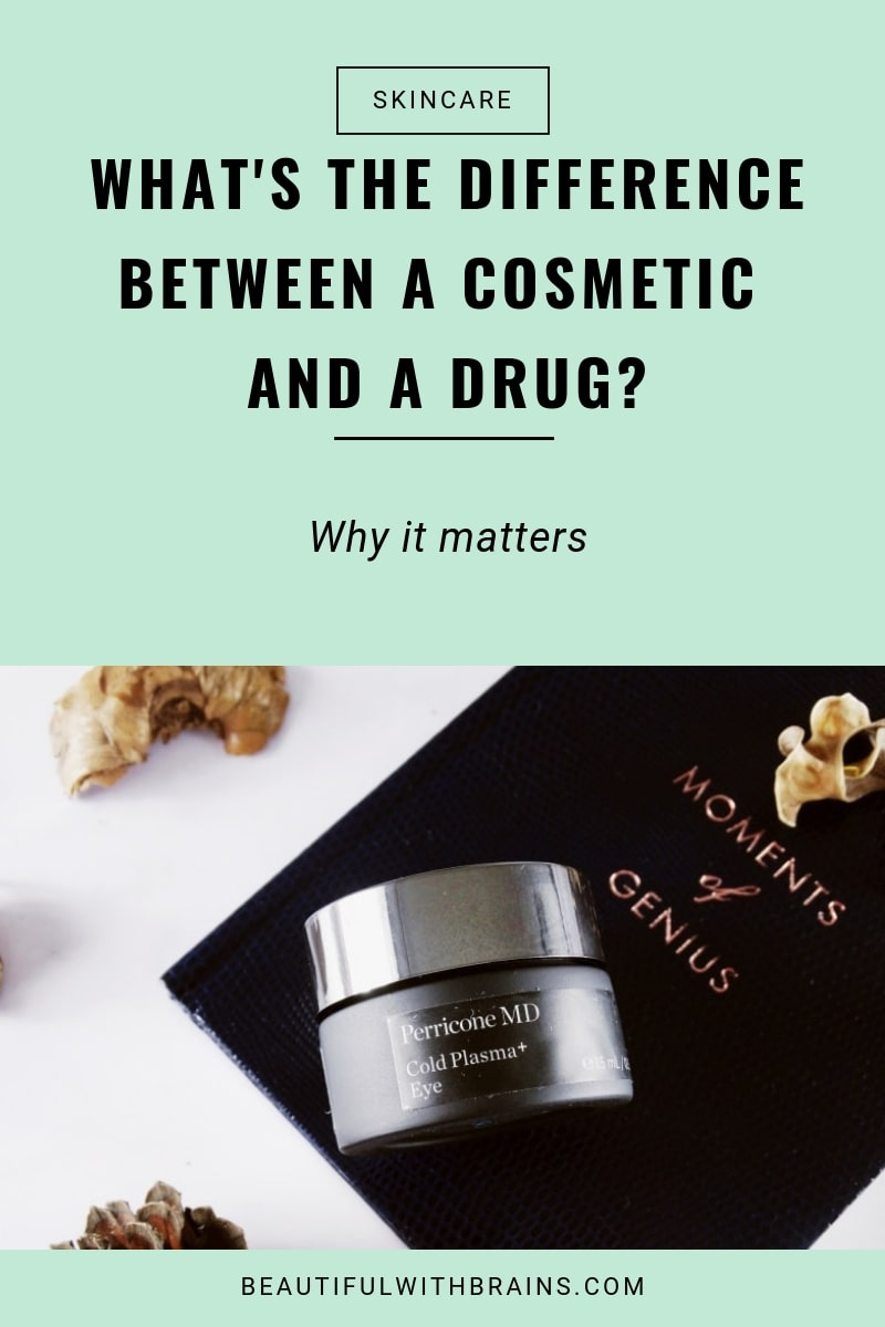 difference between a cosmetic and a drug