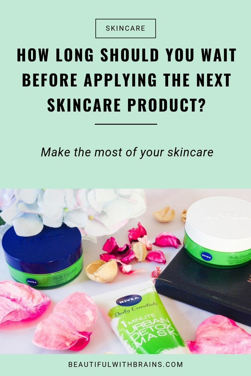 how long to wait before applying next skincare product