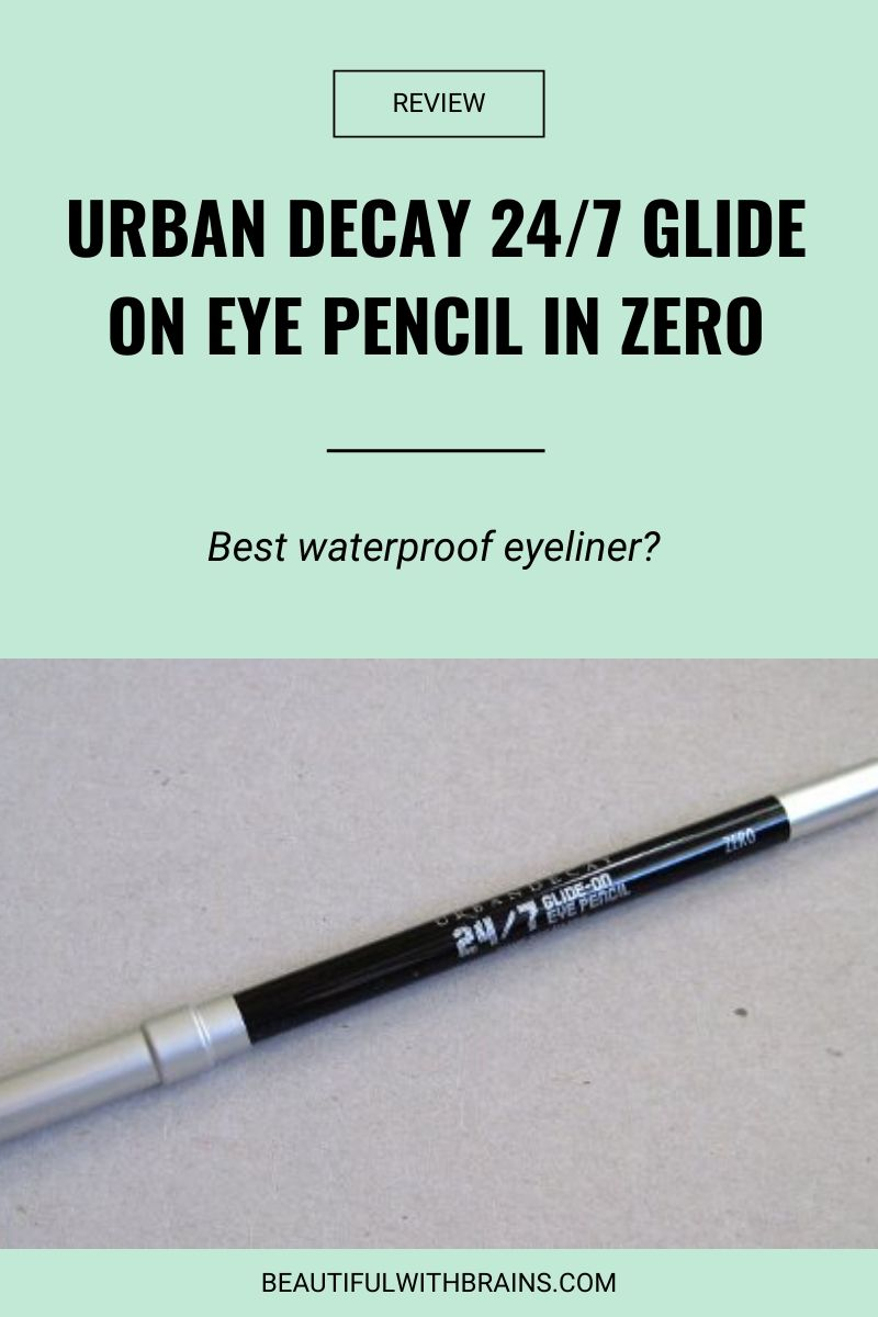 review urban decay 24:7 glide on eye pencil in zero