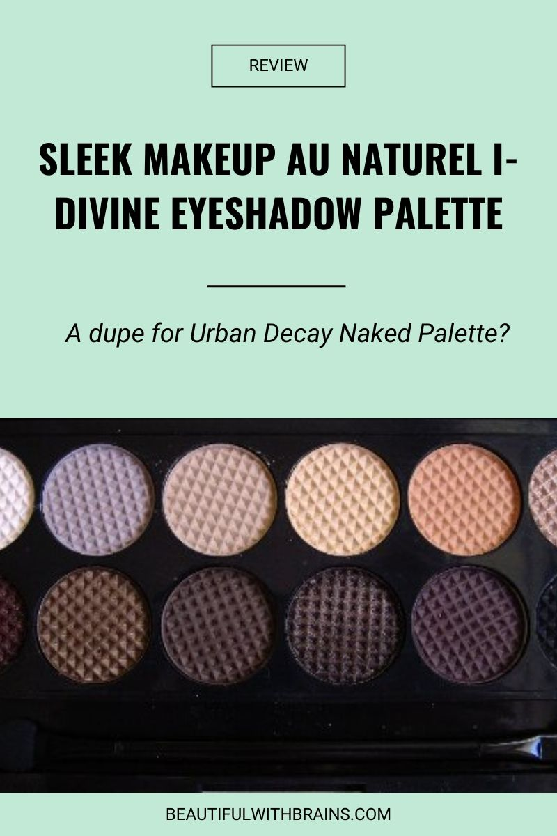 review sleek makeup au naturel eyeshadow palette