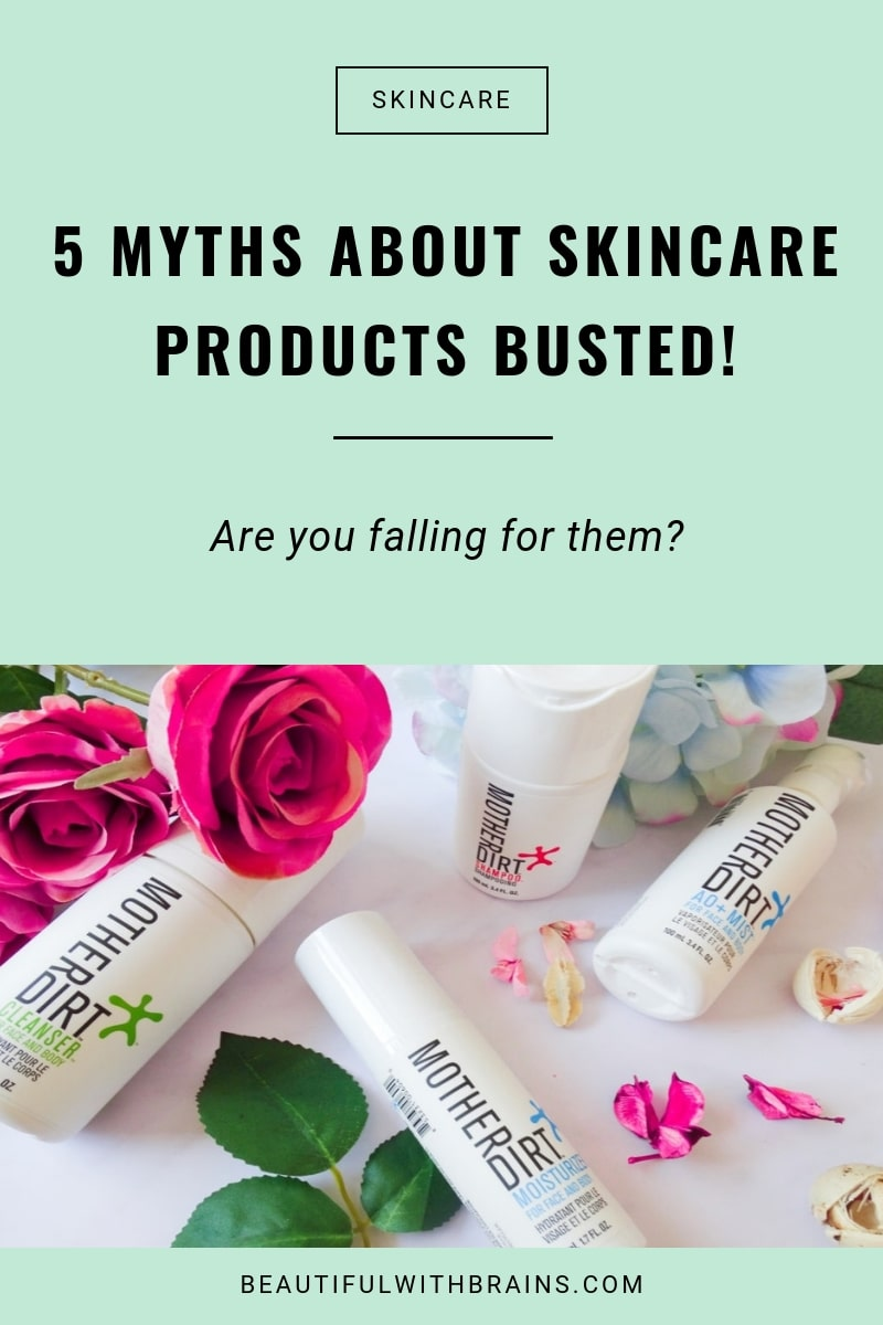 skincare products myths