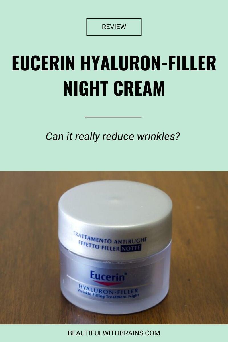 review eucerin hyaluron-filler night cream