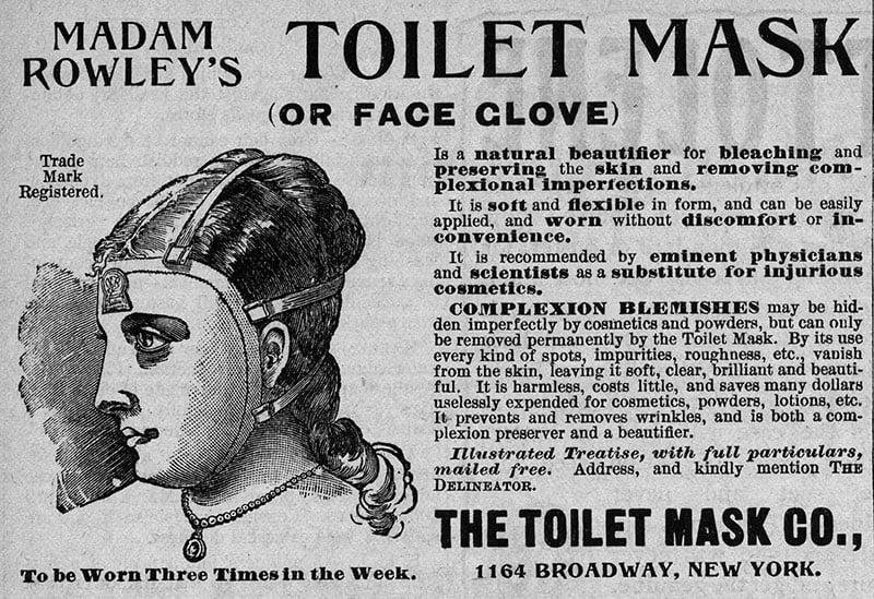 madame Rowley toilet mask
