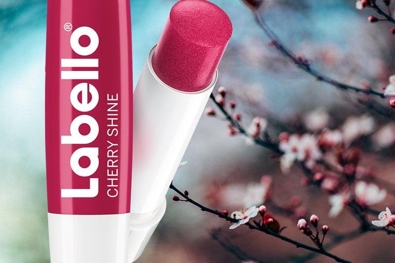labello cherry shine lip balm review