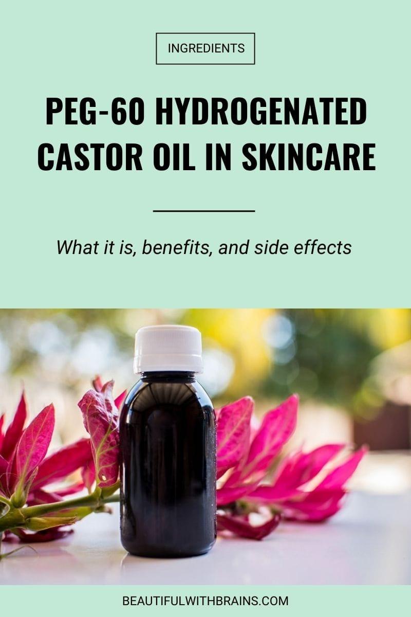 peg-60 hydrogenated castor oil skincare