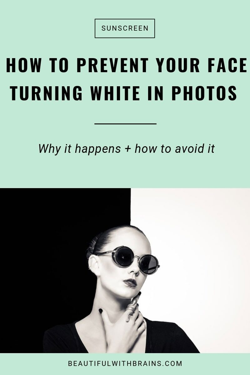 how to prevent your face from turning white in photos