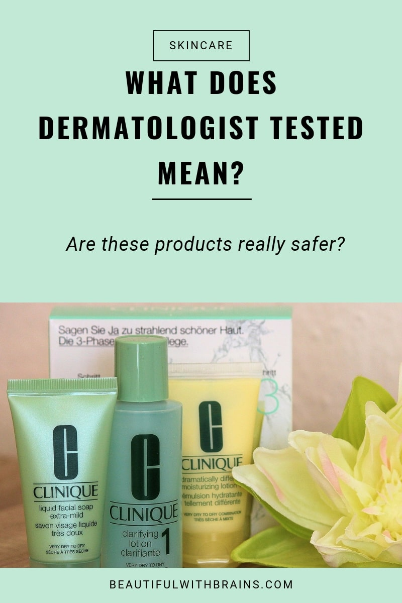 what dermatologist tested means