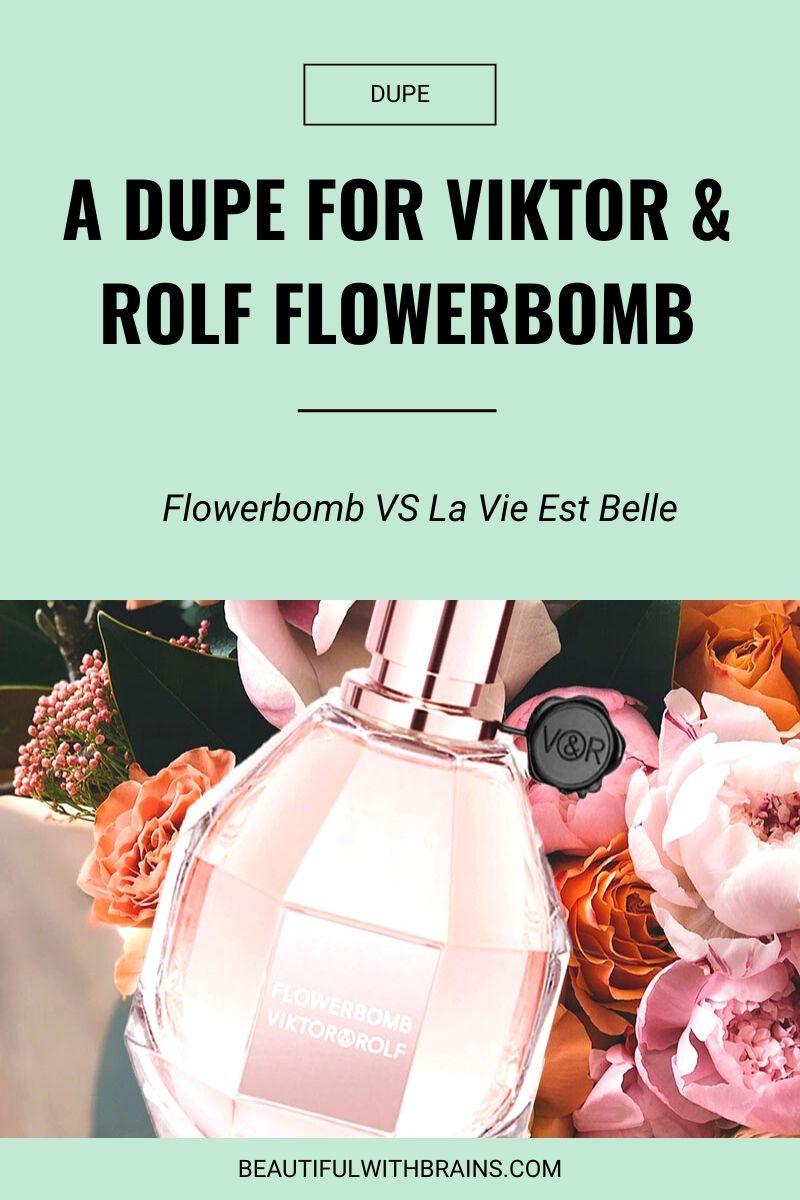 lancome la vie est belle is a dupe for viktor and rolf flowerbomb
