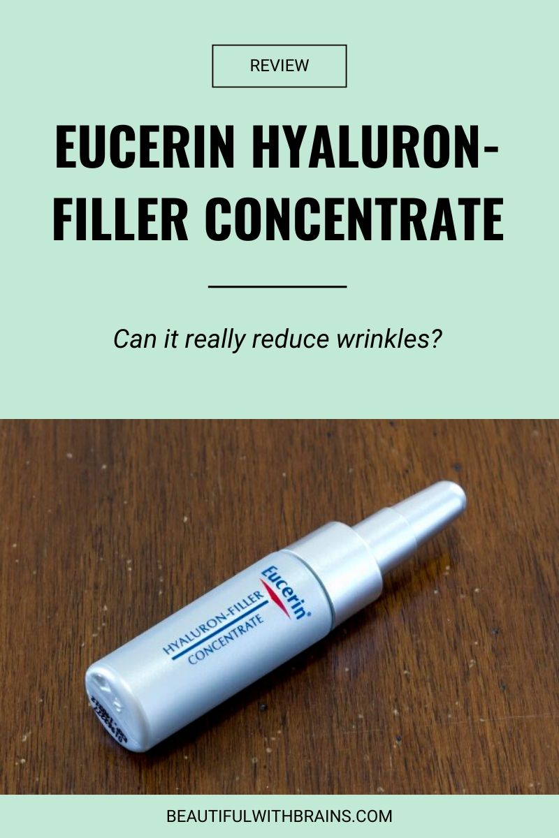 eucerin hyaluronic filler concentrate review