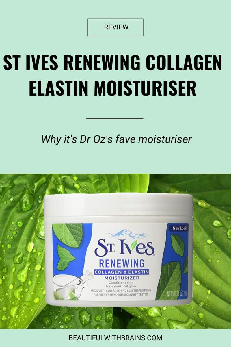 st ives renewing collagen elastin moisturizer review