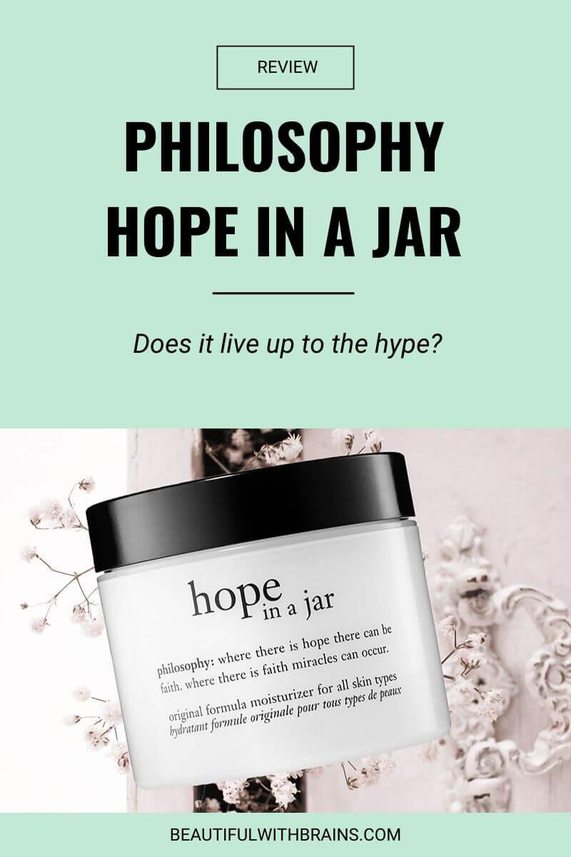 philosophy hope in a jar original formula review