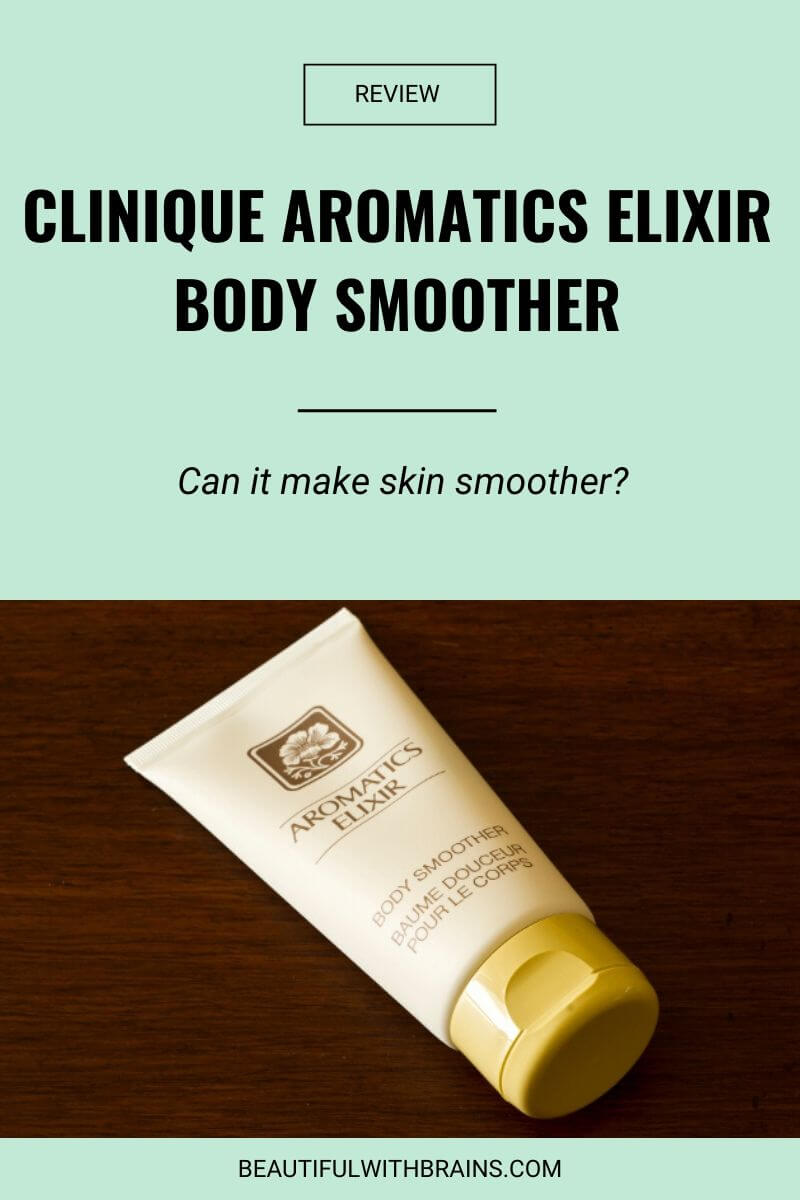 clinique aromatics elixir body smoother review