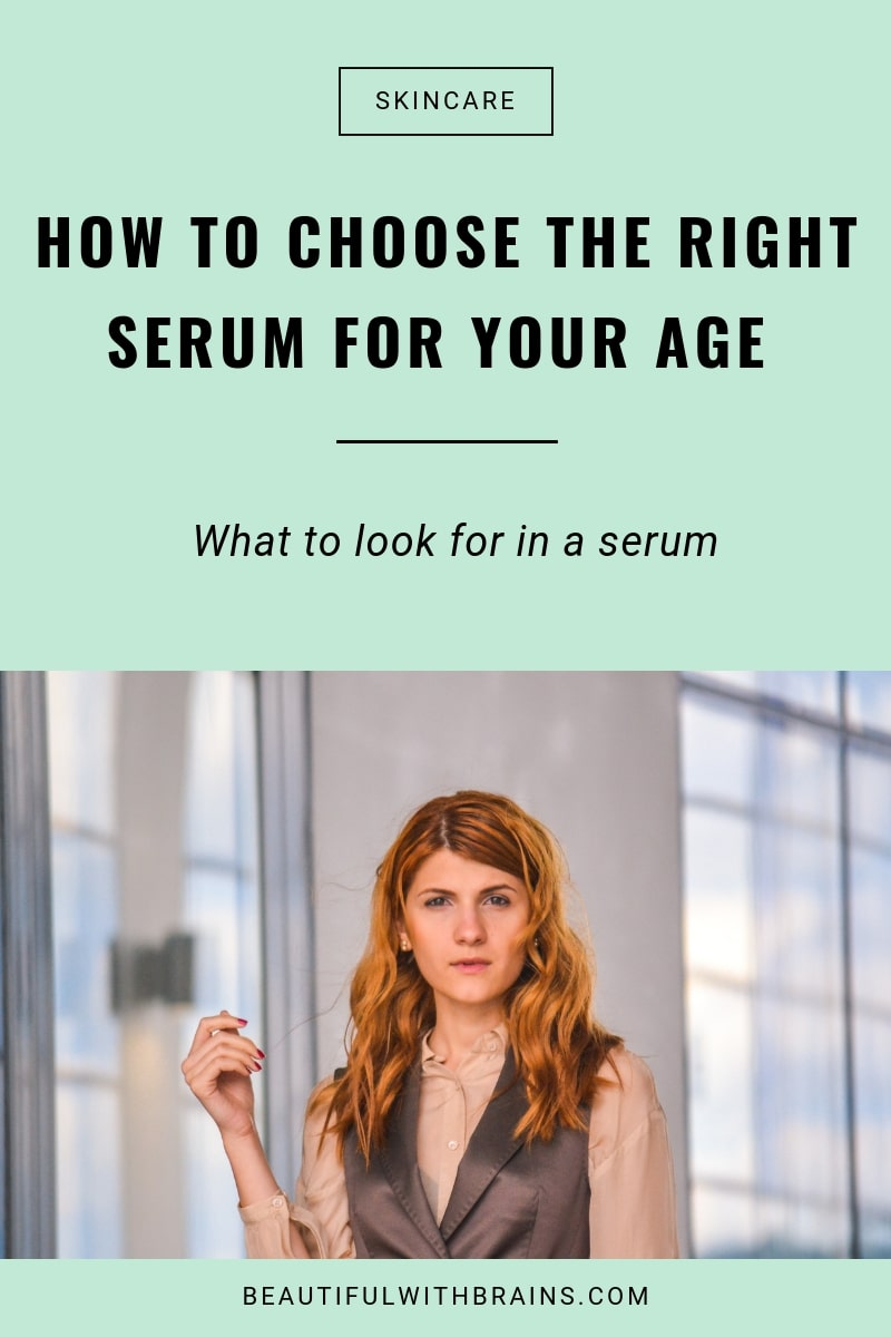 how to choose the right skincare serum for your age