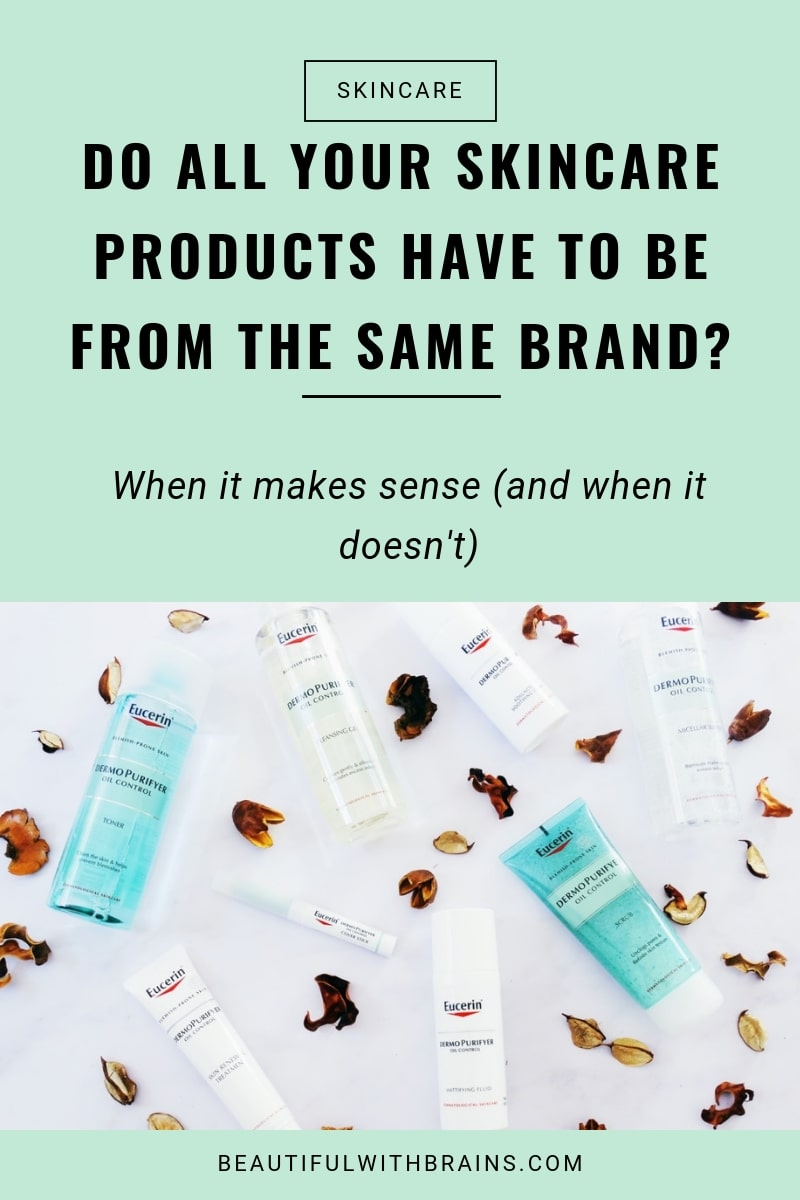 do all your skincare products have to be from the same brand
