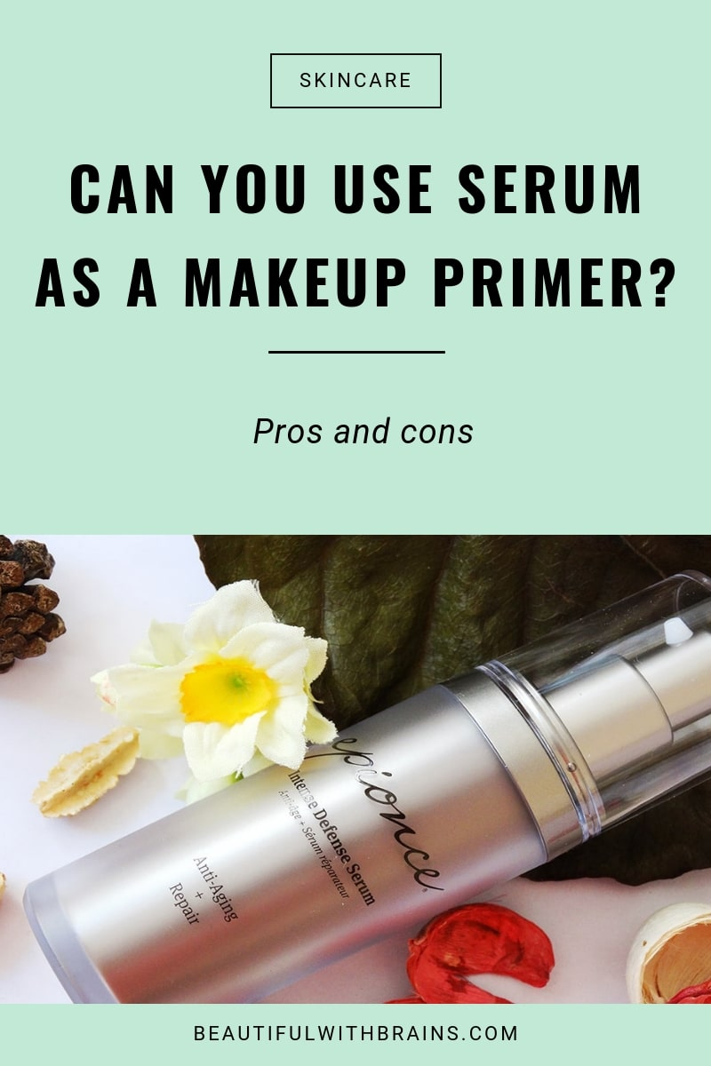 serum as makeup primer