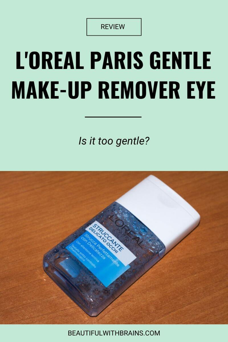 l'oreal gentle makeup remover eye review