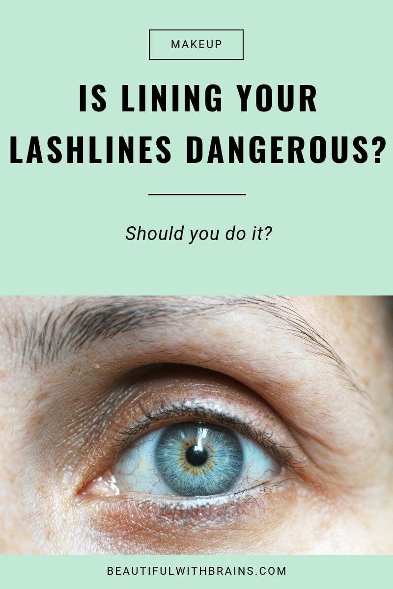 apply eyeliner waterline