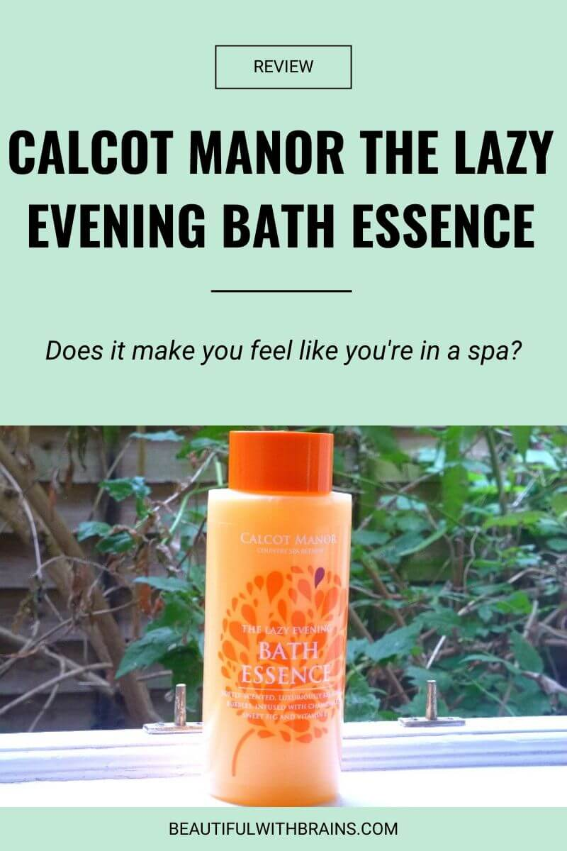 calcot manor the lazy evening bath essence review