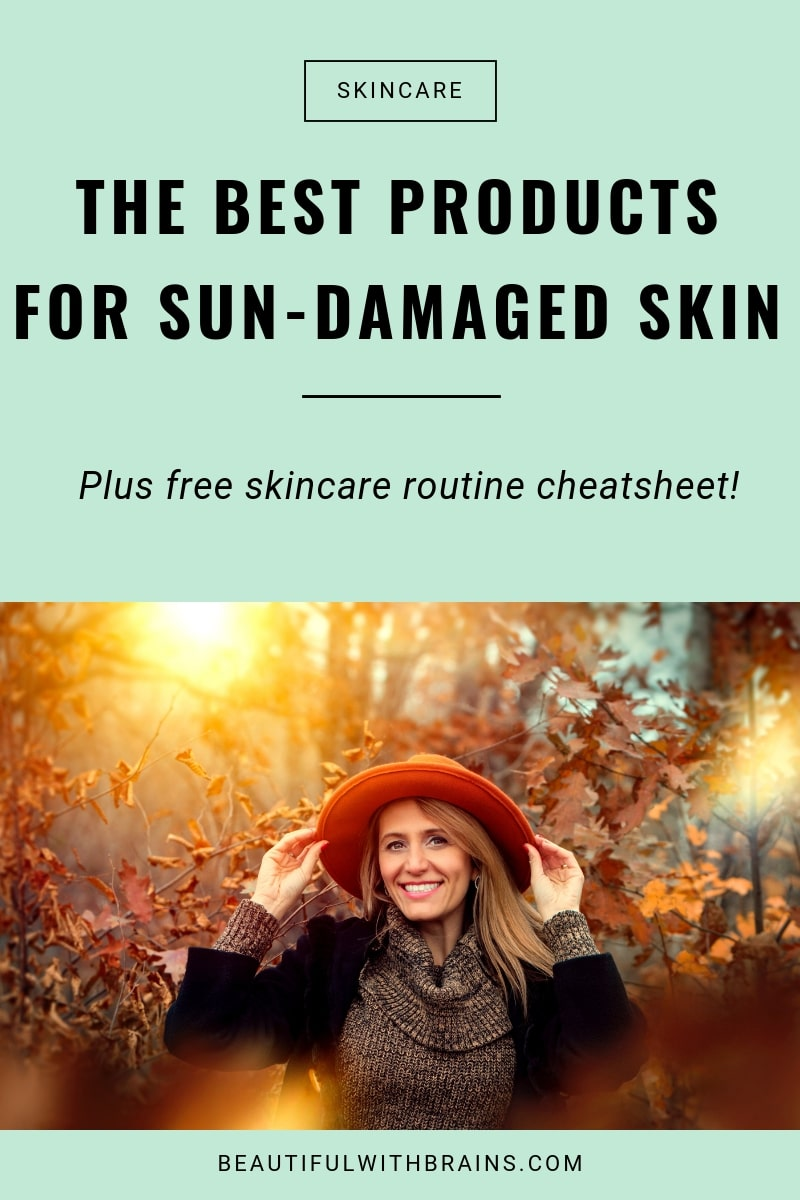 the best skincare products to treat sun damage