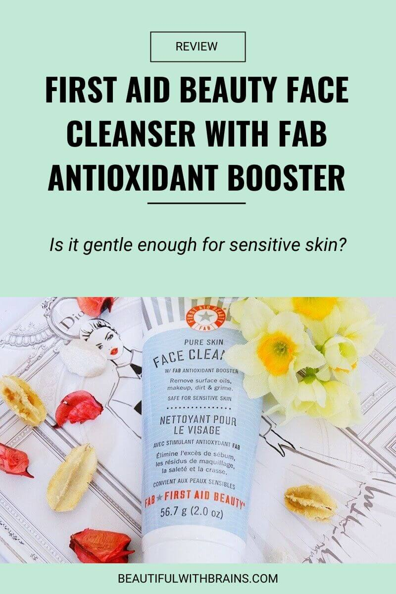 first aid beauty face cleanser with fab antioxidant booster review