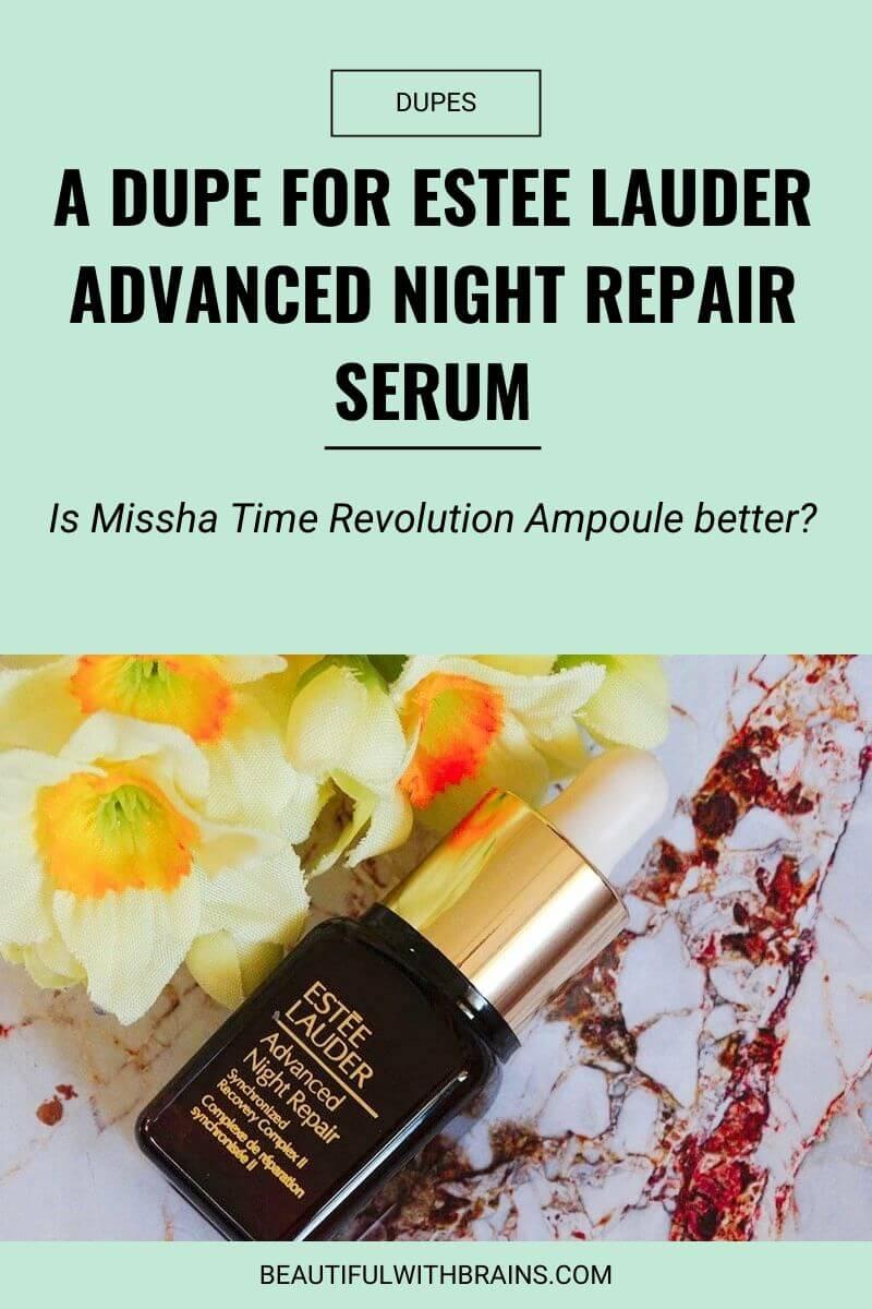 missha time revolution ampoule dupe for estee lauder advanced repair serum