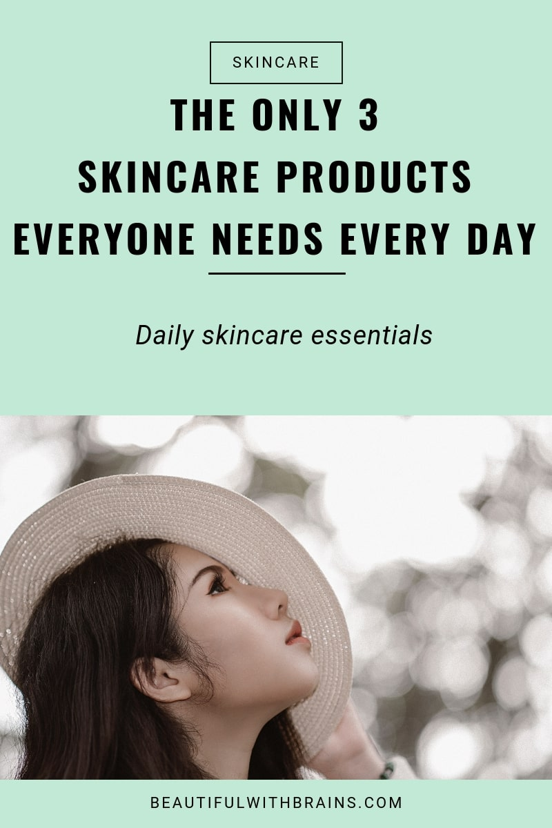 3 essential skincare products
