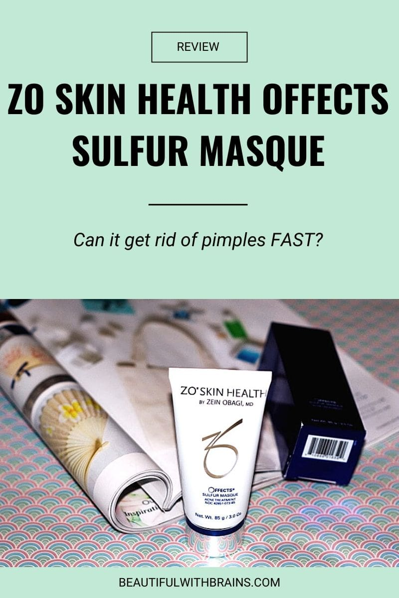 zo skin health offects sulfur masque review
