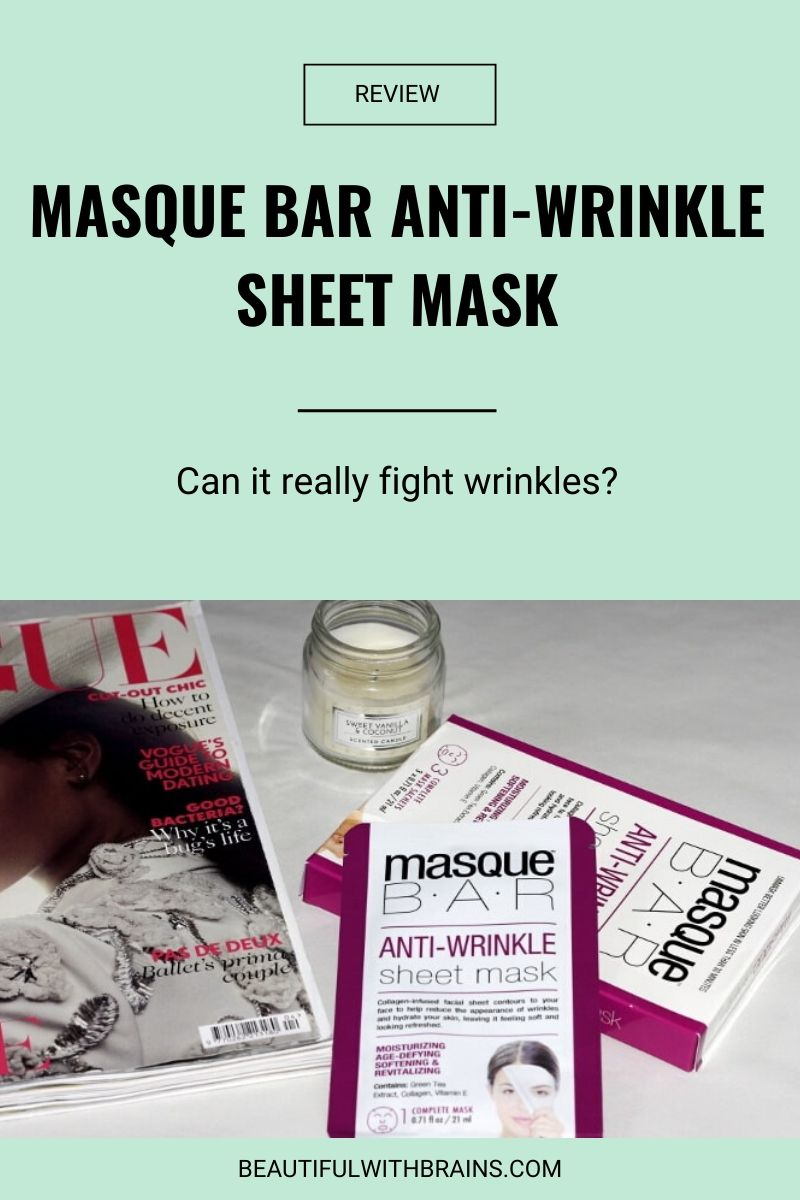 masque bar anti-wrinkle mask review