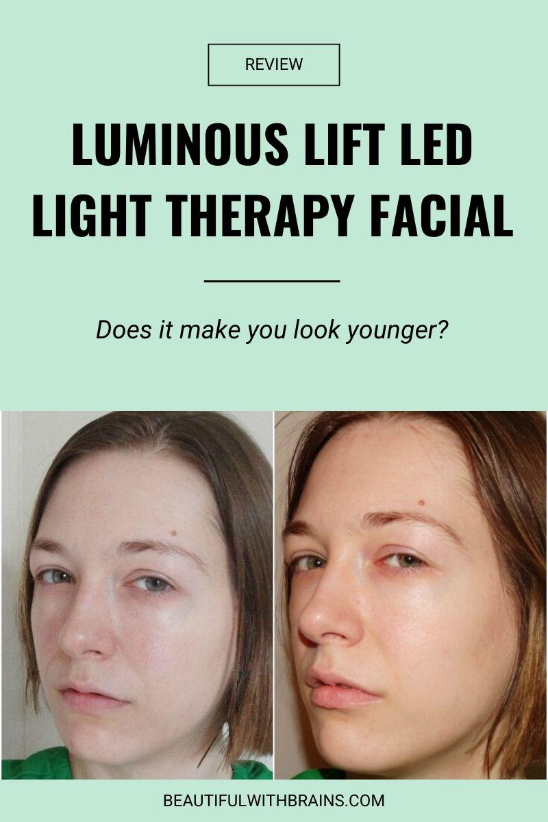 Luminous Lift LED Light Therapy Facial review