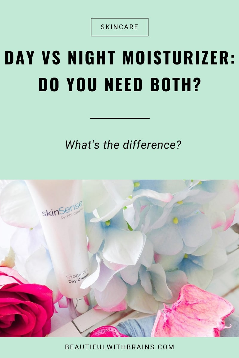 day vs night moisturizer difference