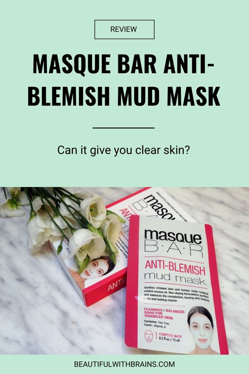 Masque Bar Anti-Blemish Mud Mask review
