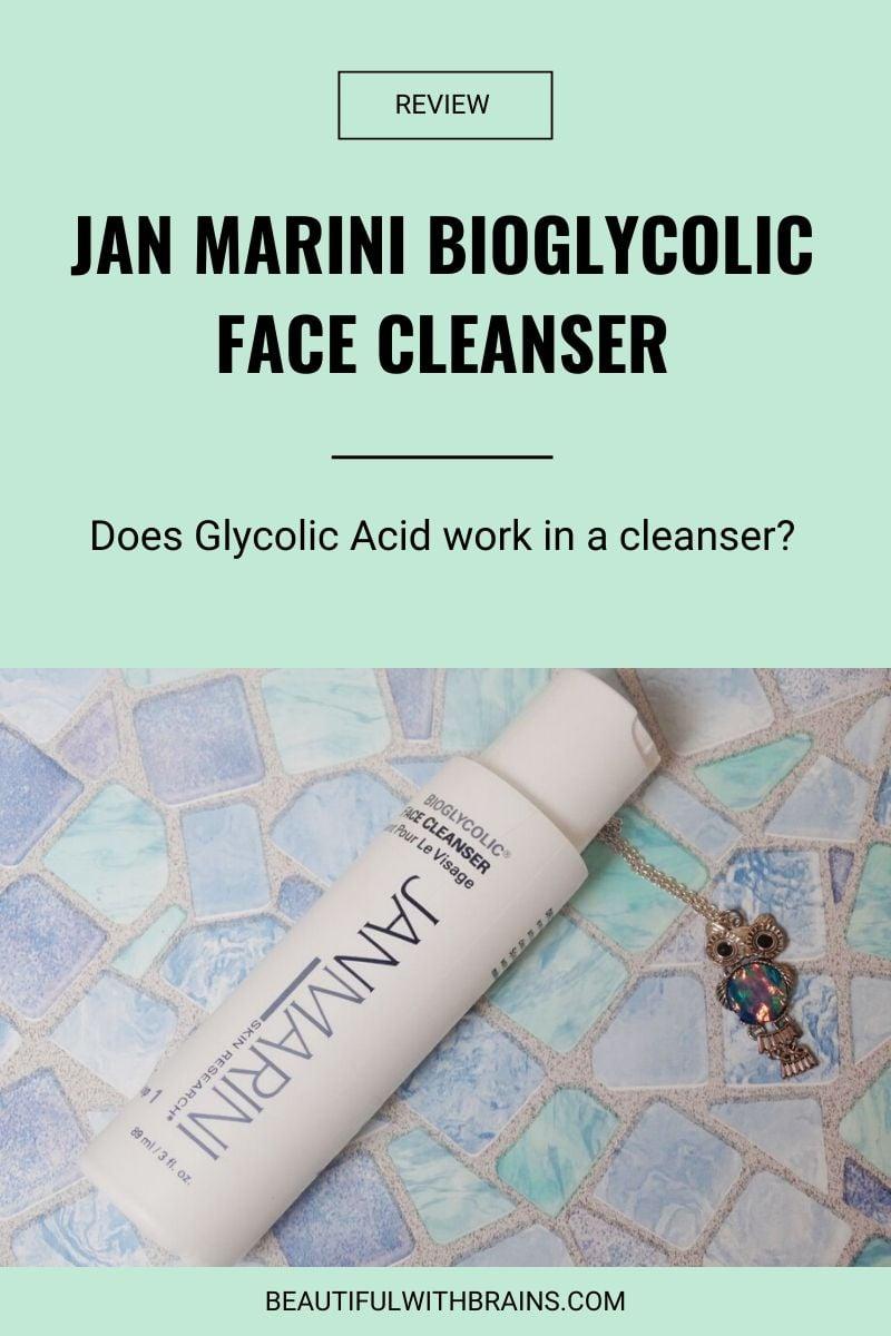 Jan Marini Bioglycolic Face Cleanser review