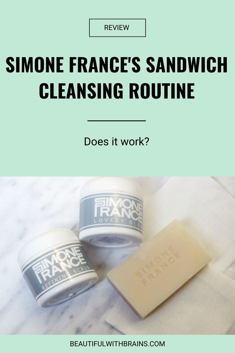 simone france sandwich cleansing routine