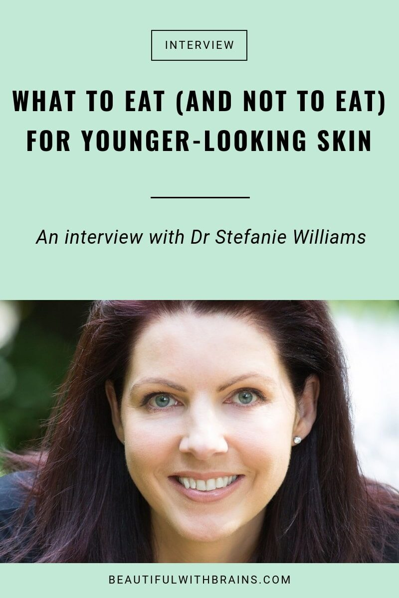 stefanie williams on what to eat for younger-looking skin