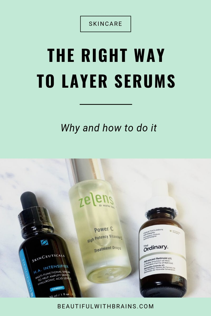 how to layer serums