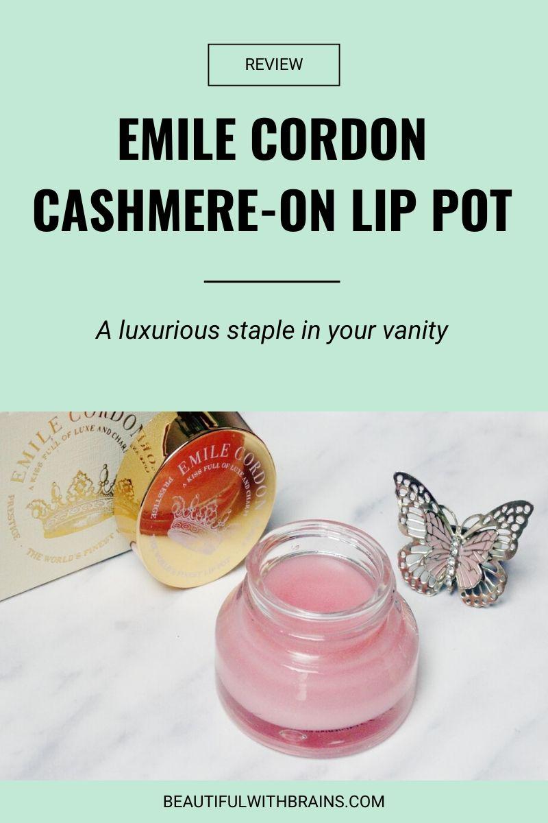 Emile Cordon Cashmere-On Lip Pot in Lisa review