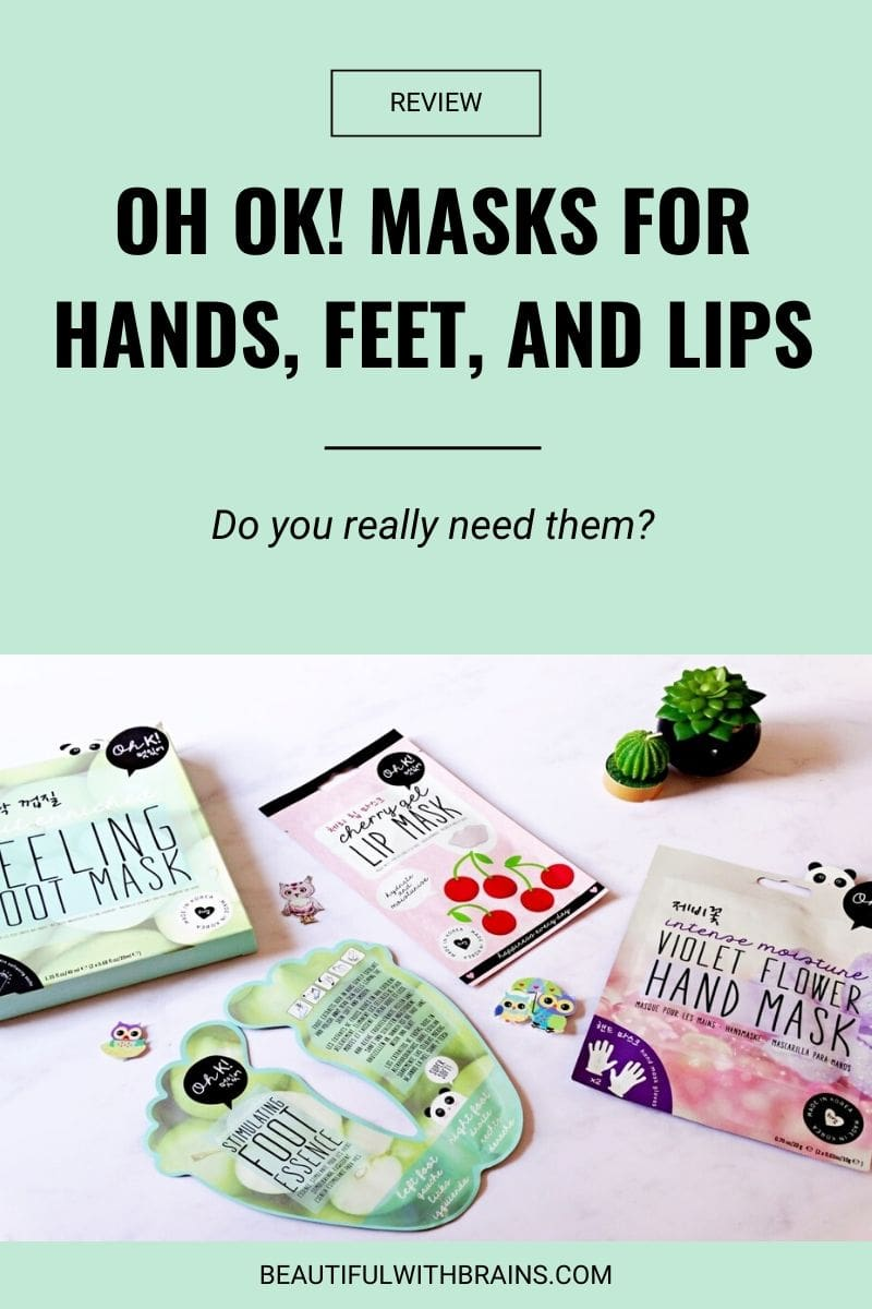 oh ok hands feet and lip masks review