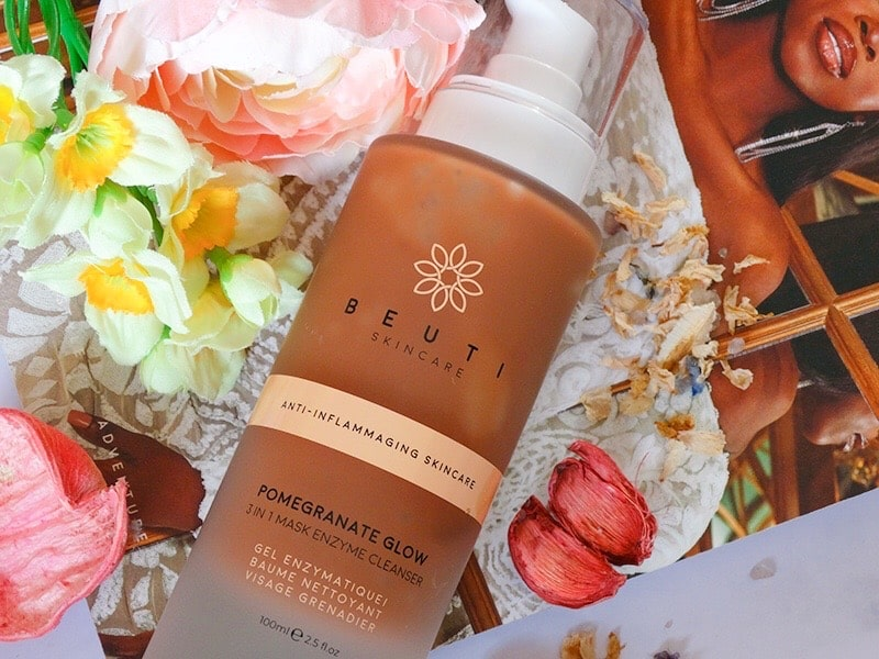 review beuti pomegranate glow enzyme cleanser