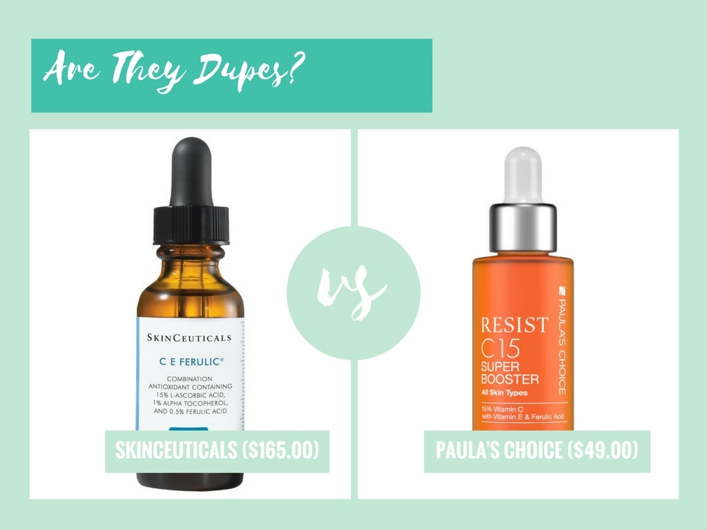 skinceuticals ce ferulic dupe paulas choice c15 booster