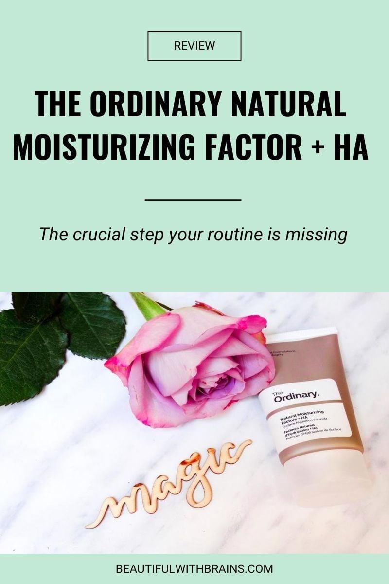 the ordinary natural moisturizing factors + ha review