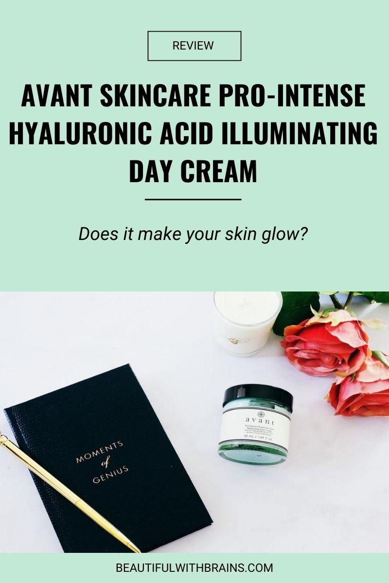 Avant Skincare Pro-Intense Hyaluronic Acid Illuminating Day Cream review